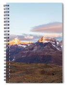Sunrise At The Swiss Alps Spiral Notebook