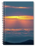 Sunrise At The Top Of The World Spiral Notebook