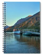 Sunrise At The Two Medicine Dock Spiral Notebook