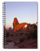 Sunrise At Tower Arch Spiral Notebook