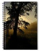 Sunrise Behind Elm Tree Spiral Notebook