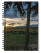 Sunrise Between The Palms Spiral Notebook