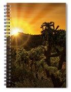 Sunrise Done With An Arizona Flare Spiral Notebook