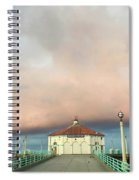 Sunrise Drama - Manhattan Beach Pier Spiral Notebook