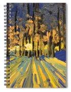 Sunrise Forest Modern Impressionist Landscape Painting  Spiral Notebook