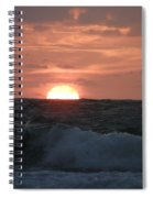 Sunrise From The Waves Spiral Notebook