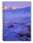 Sunrise Ice Reflection Spiral Notebook