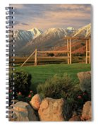 Sunrise In Carson Valley Spiral Notebook