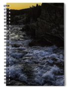 Sunrise In Many Glacier Area Spiral Notebook