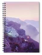 Sunrise In Oia Spiral Notebook