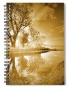 Sunrise In Sepia Spiral Notebook