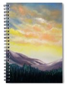 Sunrise In The Mountains Spiral Notebook