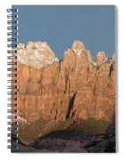 Sunrise In Zion National Park  Spiral Notebook