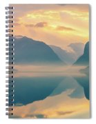Sunrise Lovatnet, Norway Spiral Notebook