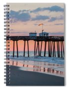 Sunrise Ocean City Fishing Pier Spiral Notebook