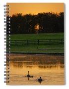 Sunrise On A Gettysburg Duck Pond Spiral Notebook