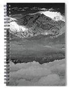 Sunrise On Kanchenjunga Bw Spiral Notebook