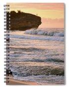 Sunrise On Shipwreck Beach Spiral Notebook