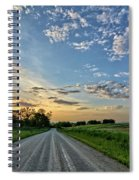 Sunrise On The Road Spiral Notebook
