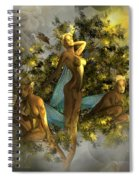 Sunrise On The Tree Pixies Spiral Notebook
