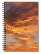 Sunrise Orange Sky, Willamette National Forest, Oregon Spiral Notebook