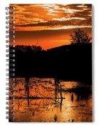 Sunrise Over A Pond Spiral Notebook
