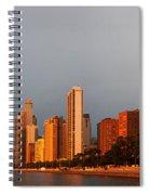 Sunrise Over Chicago Spiral Notebook