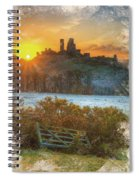 Sunrise Over Corfe Spiral Notebook