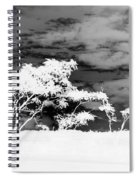 Sunrise Over Fort Salonga B W In Negative Spiral Notebook