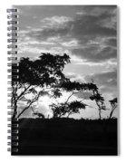 Sunrise Over Fort Salonga B W Spiral Notebook