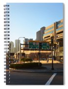 Sunrise Over Haymarket Station In Boston Spiral Notebook