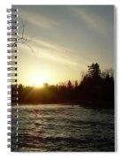 Sunrise Over Mississippi River Spiral Notebook