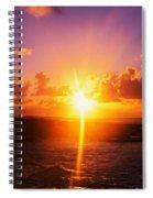Sunrise Over Ocean, Sandy Beach Park Spiral Notebook