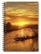 Sunrise Over  Payette River Spiral Notebook