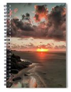 Sunrise Over The Beach Spiral Notebook