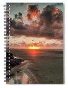 Sunrise Over The Beach Spiral Notebook