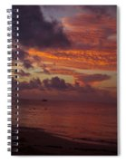 Sunrise Over The Caribean Spiral Notebook