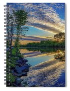 Sunrise Over The Champlain Canal Spiral Notebook