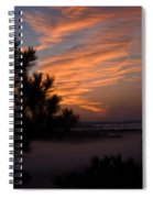 Sunrise Over The Mist Spiral Notebook