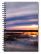 Sunrise Over The Salt Marsh Spiral Notebook