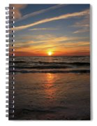 Sunrise Over The Waves Spiral Notebook