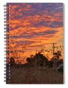 Sunrise Over The Wheat Fields Spiral Notebook