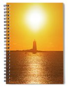 Sunrise Over Whaleback Light Portsmouth Nh New Hampshire Spiral Notebook