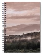 Sunrise Pink Over Tlacolula Valley Spiral Notebook