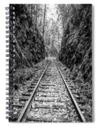 Sunrise Rails Black And White Vertical Panorama Spiral Notebook