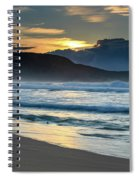 Sunrise Seascape With Headland And Clouds Spiral Notebook