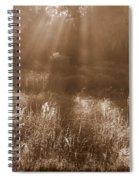 Sunrise Sepia Spiral Notebook