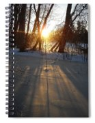 Sunrise Shadows On Ice Spiral Notebook