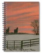 Sunrise Silhouettes Spiral Notebook
