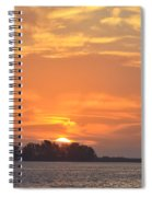 Sunrise Through Clouds 2451 Spiral Notebook